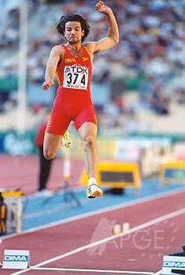 El saltador de longitud Yago Lamela