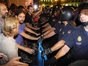 La detención. 15M. Madrid