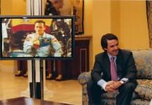 Astronauta Luque y José María Aznar